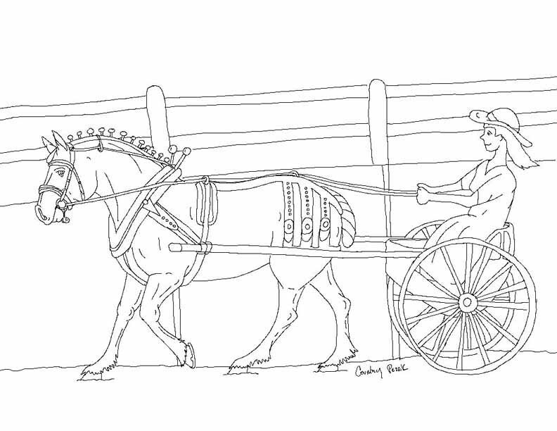 Horse Drawn Carriage Coloring Pages