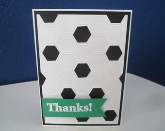 Soccer Thanks Coach Card