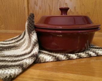 Crochet Hot Pad, Crochet Pot Holder, Hot Pad, Pot Holder, Magic Pot Holder, Double Thick Pot Holder