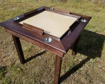 Solid Wood Domino Table Expresso Finsh