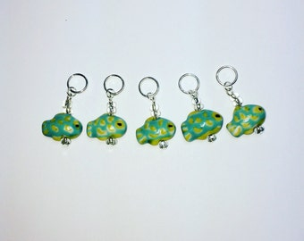 Fishy Knitting / Crochet Stitch Markers - Set of 5