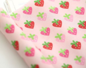 Laminated Mini Strawberries Pattern Digital Printing Cotton Fabric by Yard