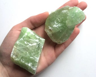 """Green calcite large raw natural one stone 2"""""""