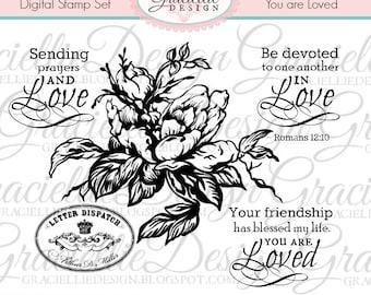 You are Loved - Digital Stamp Set