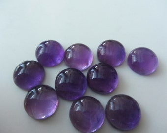 Natural Purple Amethyst Round Cabochon 15x15 mm- 1 Pcs