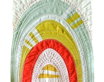 Sew Mojo #3 Mini Quilt Pattern PDF Download - Improv DIY Sewing for Beginners with Video Tutorial on Quilting and Hand Stitching