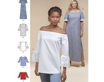 Simplicity Pattern 8296 Misses'/Petite/Women's Dress and Tops
