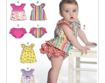 Butterick Pattern B6444 Infants' Ruffled Tops, Dresses and Panties
