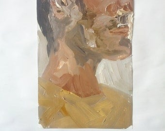 Man in Profile with Mustard-Colored Shirt