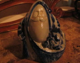 Salt Glaze Eldreth Pottery 1996 Santa