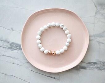 Aura Bracelet - Marble & Rose Gold