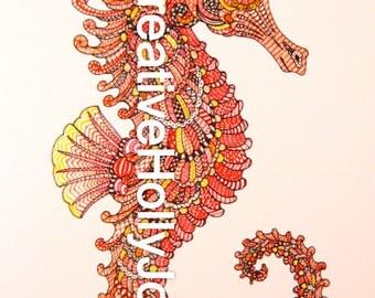 8 x 10 Print - doodle art