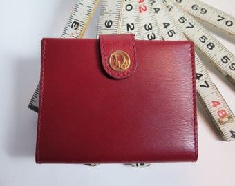 Christian Dior Vintage Red Leather Bifold Ladies Wallet