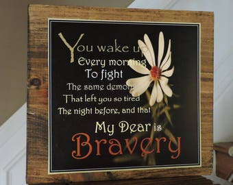 Motivational Sign |  Rehab Support Gift | AA Recovery | Sobriety Gift | Alcohol Recovery | Recovery Gift | Inspirational Wood Sign |