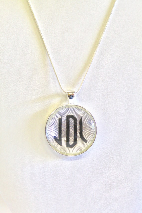 Monogrammed Necklace, Monogram Silver Necklace, Personalized Monogram Jewelry, Jewelry Gift For Wife, Monogram Necklace, Gift For Her