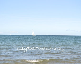 Instant Download Landscape Photography Lake Ontario Sailboat