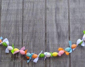 Easter Egg Garland with Felt, Easter Garland