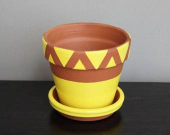 Yellow Small Plant Pot