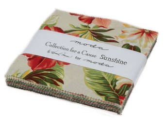 Moda Tropical Collection for a Cause Sunshine Charm Pack