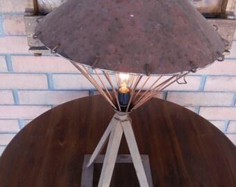 Brown Jackstand Lamp