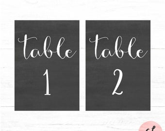 Chalkboard Table Numbers 1-30, Wedding Table Numbers, Table Numbers, Chalkboard Sign, Chalkboard Table Numbers, Printable, Instant Download