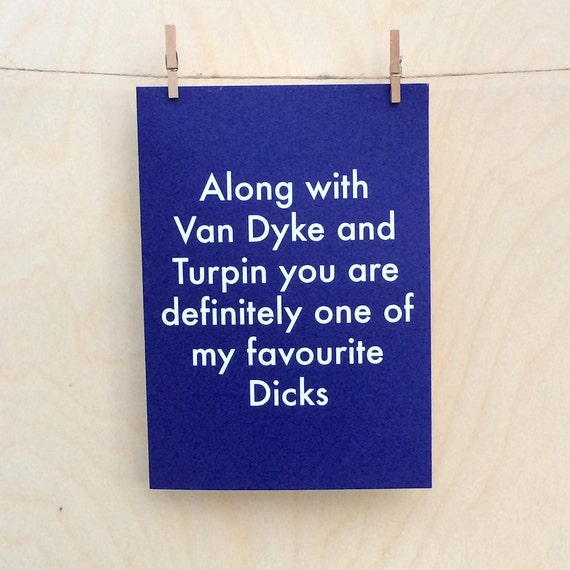 Favourite birthday card, funny love birthday card, funny valentines card, funny dick card