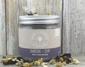 Charcoal + Clay Face Mask, Activated Charcoal Mask, Face Mask, Bentonite Clay Mask, Clay Mask, Acne Mask, Natural Skincare, Organic Skincare