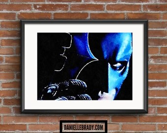 Batman Digital Art Watercolour Printable Art Downloadable Print