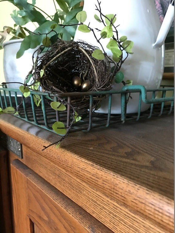 Items similar to bird nest decor accent nest with eggs for The nest home decor