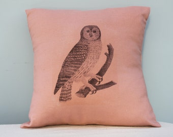 Detailed Woodland Owl Pillow