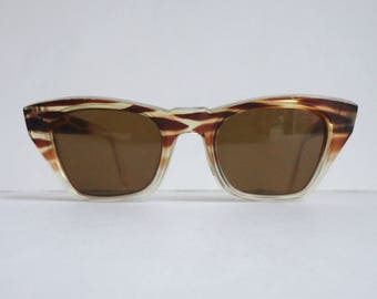 Brown 50s 60s Vintage Sunglasses // Nerd Sunglasses
