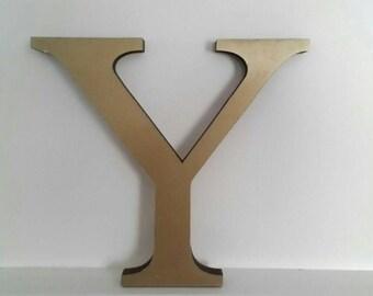 Vintage, shop sign letter, gold letter, Y