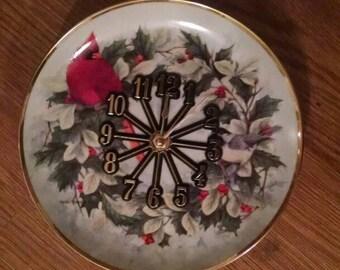 Cutest Cardinal Christmas Clock -