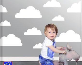 Cloud decals - Clouds Wall Decal - Nursery Wall Decal Clouds - Clouds Shapes Decal - Set of 27 Cloud decals - Baby Nursery Decal