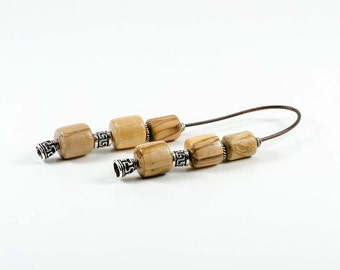 Olive Wood Greek Worry Beads Begleri 15x15mm Greek Meander