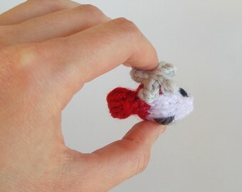 Tiny Helicopter Knitted Brooch Pin - Helicopter Jewelry - Miniature Plane - Flight Jewelry - Helicopter Pin - Stocking Stuffer - Flying Gift