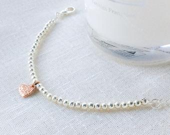 Heart bracelets for women, silver bracelet, wedding bracelet, bridesmaid bracelet, wedding jewelry, anniversary bracelet, gift for her