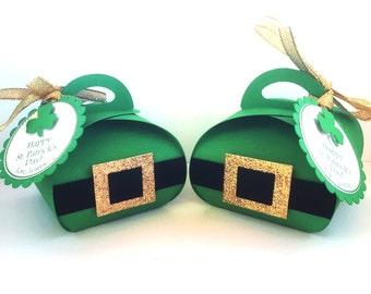 St. Patrick's Day Favor Boxes, St Patrick's Party Favors, St. Patrick's Favors, Shamrock Favors, Green Party Favors, Favor Bags, Treat Boxes