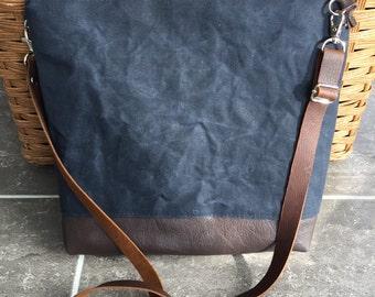 crossbody bag, waxed canvas bag,  crossbody, zipper bag, canvas handbag