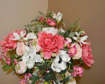 Bride Bouquet, Bohemian Bouquet, Garden Fresh Bouquet,Blush Bouquet, Bridal Bouquet, bouquet, BOHO bouquet, wedding bouquet
