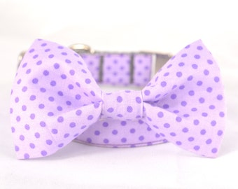 Dog Collar with Personalized Buckle,Polka dots,Fabric 33