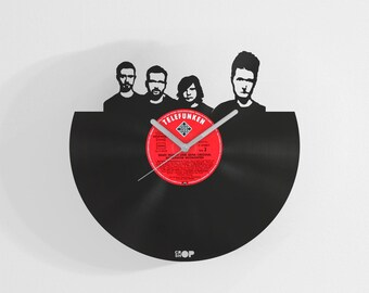 Bastille wall clock from upcycled vinyl record (LP) | Hand-made gift for Bastille fan, lover | Bastille home wall decoration, present