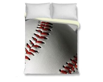 Baseball Duvet Cover Bedding Sports Boy Girl Bedroom Decor