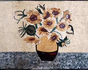 "Vincent Van Gogh ""Tournesols"" - Mosaic Reproduction"