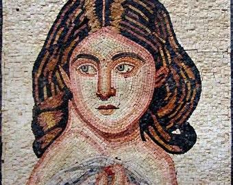 Ancient Woman Portrait Mosaic