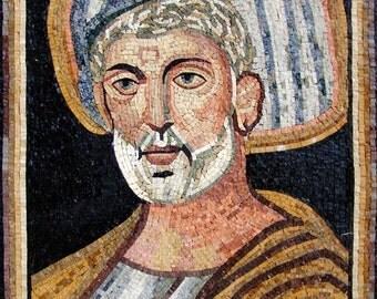 Wise Man Marble Mosaic