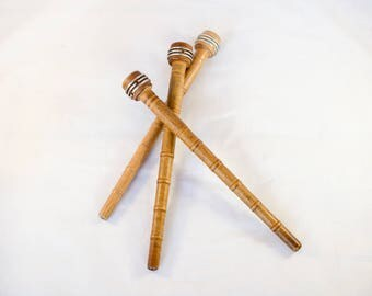 Vintage Wood Bobbins - Wooden Antique Bobbins