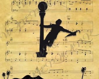 Singin In The Rain Digital Print