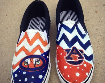 Handpainted Auburn Tigers Shoes