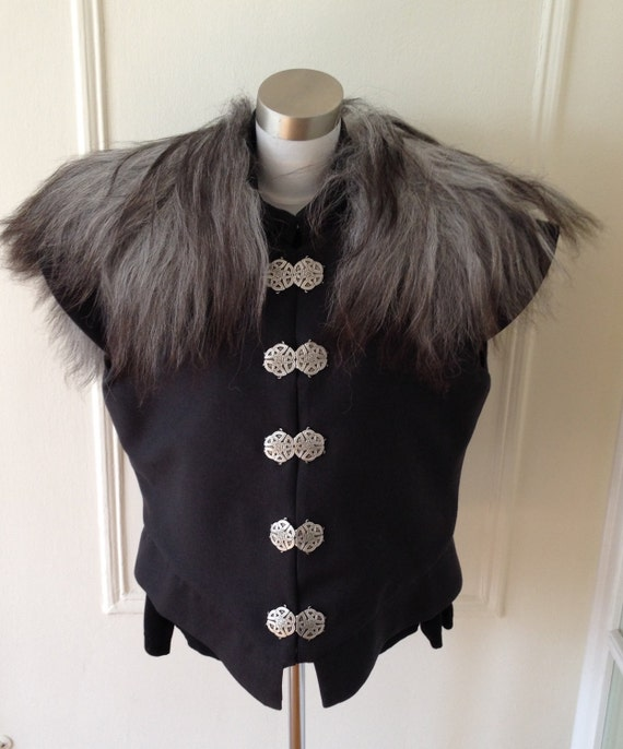 Renaissance / Game of Thrones Sheepskin Trimmed Doublet